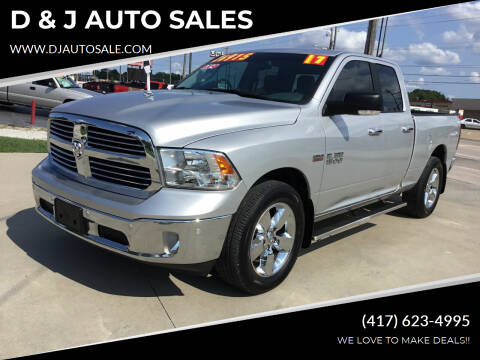 2017 RAM Ram Pickup 1500 for sale at D & J AUTO SALES in Joplin MO