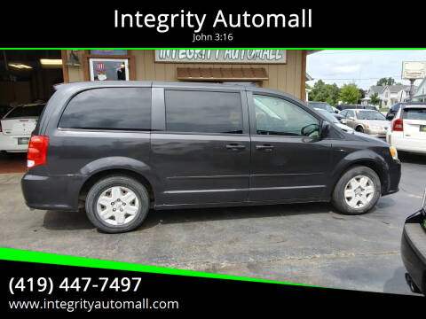 2012 Dodge Grand Caravan for sale at Integrity Automall in Tiffin OH