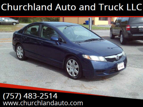 2009 Honda Civic for sale at Churchland Auto and Truck LLC in Portsmouth VA