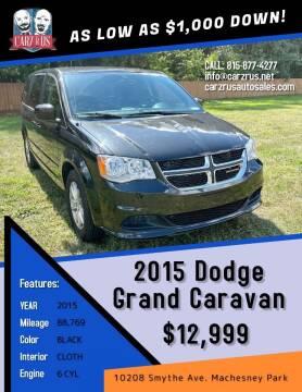 2015 Dodge Grand Caravan for sale at Carz R Us in Machesney Park IL