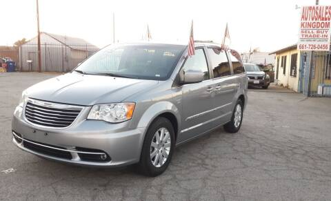 2015 Chrysler Town and Country for sale at Autosales Kingdom in Lancaster CA
