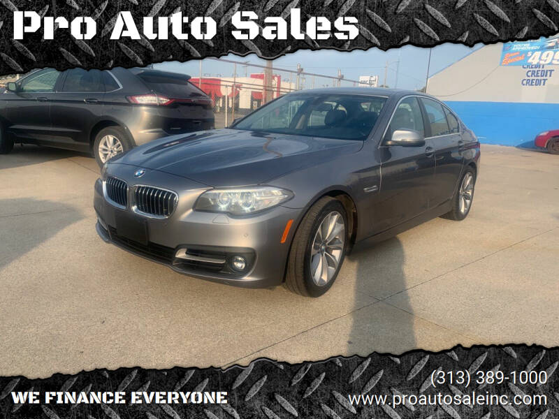 2016 BMW 5 Series for sale at Pro Auto Sales in Lincoln Park MI