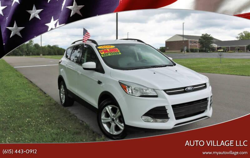 2016 Ford Escape for sale at AUTO VILLAGE LLC in Lebanon TN