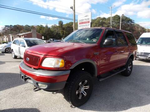 2000 Ford Expedition for sale at Deer Park Auto Sales Corp in Newport News VA