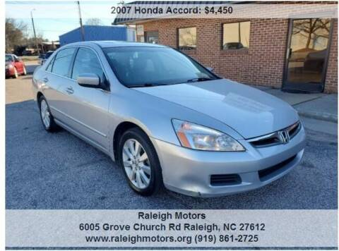 2007 Honda Accord for sale at Raleigh Motors in Raleigh NC