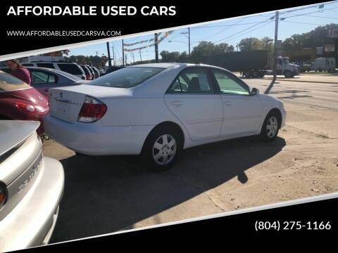 2005 Toyota Camry for sale at AFFORDABLE USED CARS in Richmond VA