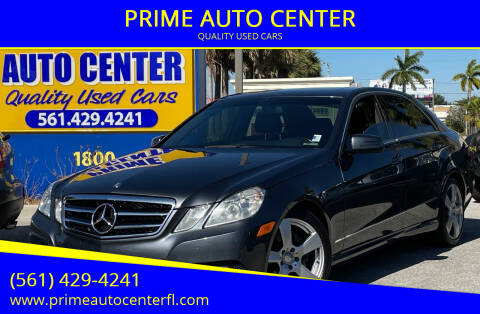 2011 Mercedes-Benz E-Class for sale at PRIME AUTO CENTER in Palm Springs FL