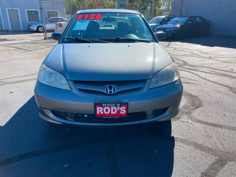 2005 Honda Civic for sale at Rod's Automotive in Cincinnati OH