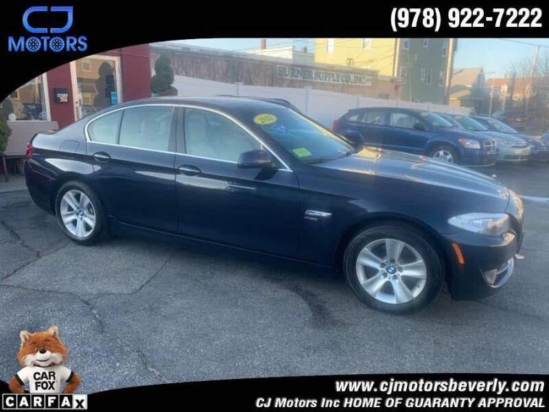 2012 BMW 5 Series for sale at CJ Motors Inc. in Beverly MA