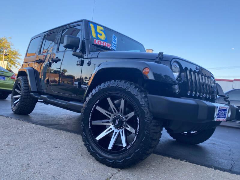 2015 Jeep Wrangler Unlimited for sale at Latino Motors in Aurora IL