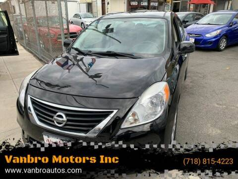 2013 Nissan Versa for sale at Vanbro Motors Inc in Staten Island NY
