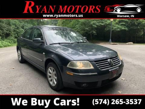 2004 Volkswagen Passat for sale at Ryan Motors LLC in Warsaw IN