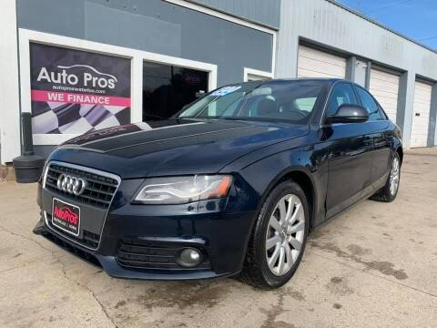 2009 Audi A4 for sale at AutoPros - Waterloo in Waterloo IA