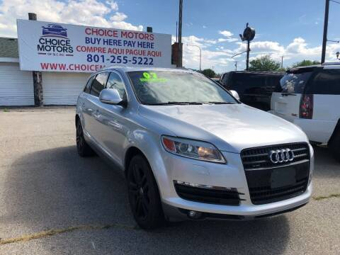 2007 Audi Q7 for sale at Choice Motors of Salt Lake City in West Valley  City UT
