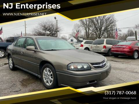 2003 Chevrolet Impala for sale at NJ Enterprises in Indianapolis IN