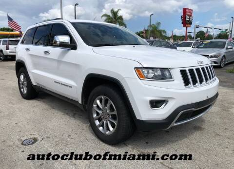 2015 Jeep Grand Cherokee for sale at AUTO CLUB OF MIAMI, INC in Miami FL