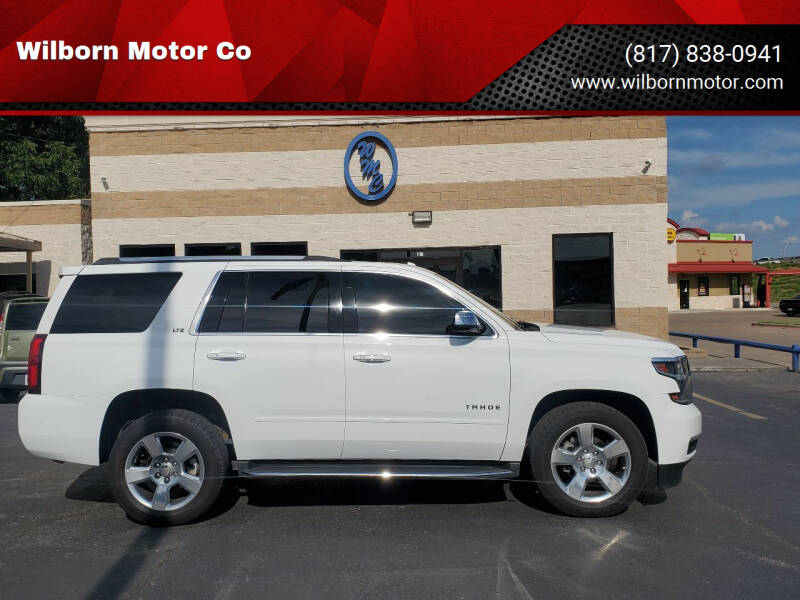 2016 Chevrolet Tahoe for sale at Wilborn Motor Co in Fort Worth TX