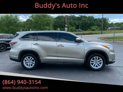 2016 Toyota Highlander for sale at Buddy's Auto Inc in Pendleton SC