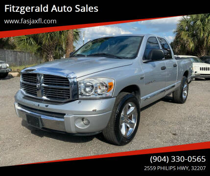 2007 Dodge Ram Pickup 1500 for sale at Fitzgerald Auto Sales in Jacksonville FL