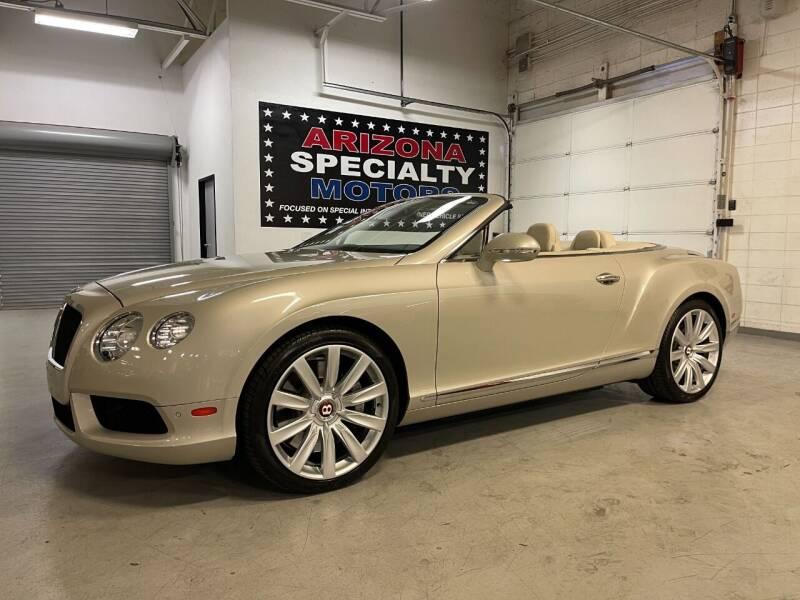 2013 Bentley Continental for sale at Arizona Specialty Motors in Tempe AZ
