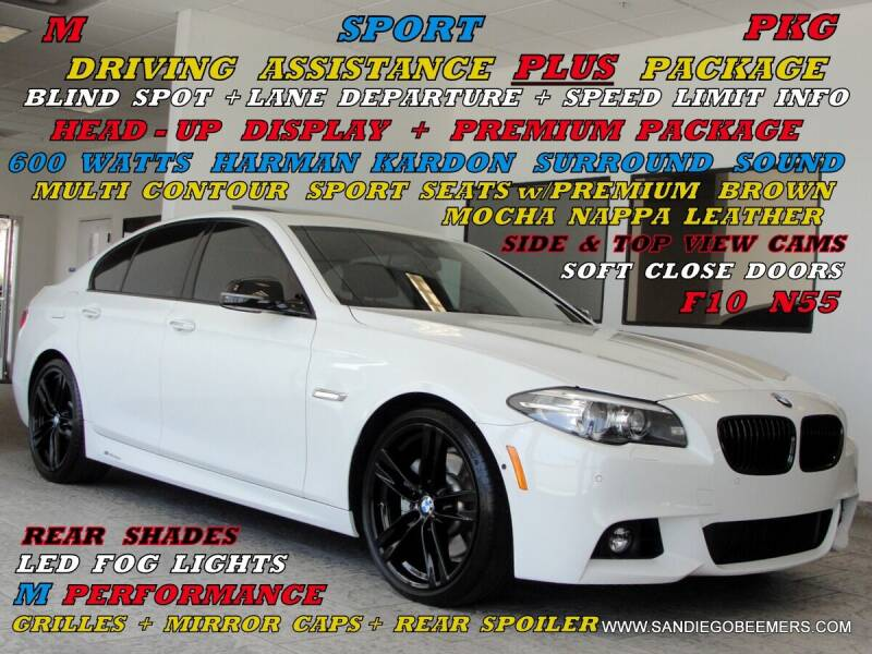 2015 BMW 5 Series for sale at SAN DIEGO BEEMERS in San Diego CA