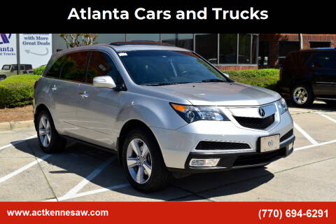 2013 Acura MDX for sale at Atlanta Cars and Trucks in Kennesaw GA