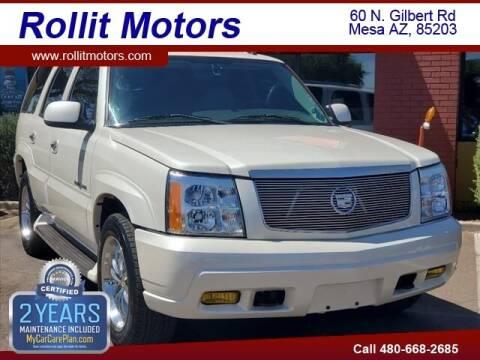 2004 Cadillac Escalade for sale at Rollit Motors in Mesa AZ