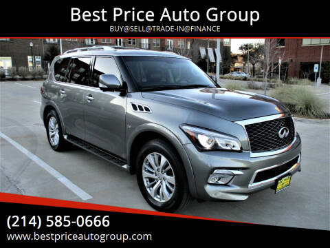 2016 Infiniti QX80 for sale at Best Price Auto Group in Mckinney TX
