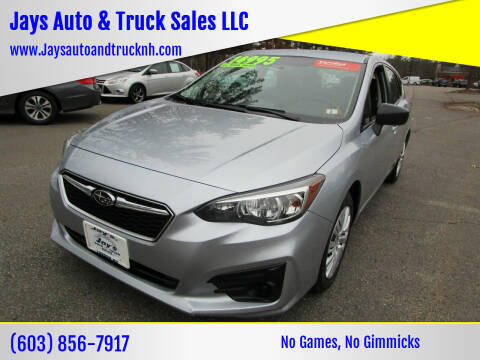 2018 Subaru Impreza for sale at Jays Auto & Truck Sales LLC in Loudon NH