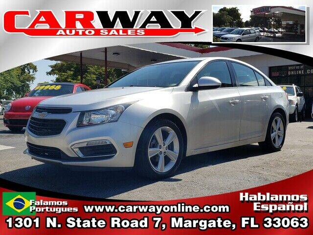 2015 Chevrolet Cruze for sale at CARWAY Auto Sales in Margate FL
