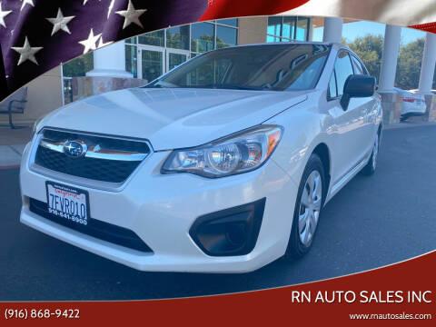 2014 Subaru Impreza for sale at RN Auto Sales Inc in Sacramento CA