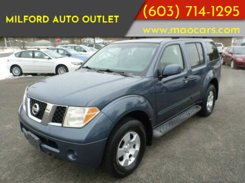 2006 Nissan Pathfinder for sale at Milford Auto Outlet in Milford NH