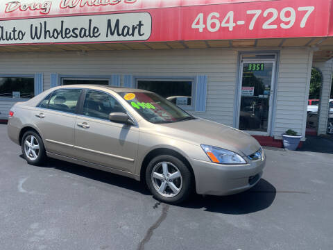2003 Honda Accord for sale at Doug White's Auto Wholesale Mart in Newton NC