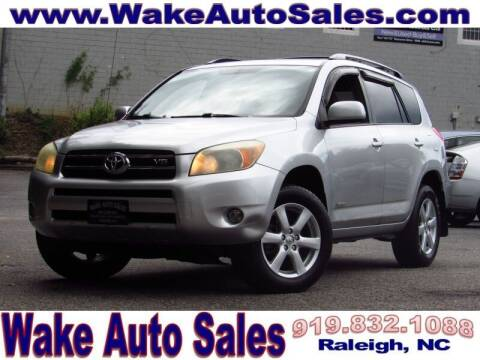 2007 Toyota RAV4 for sale at Wake Auto Sales Inc in Raleigh NC