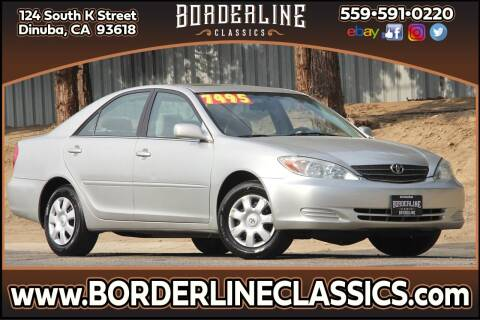 2004 Toyota Camry for sale at Borderline Classics in Dinuba CA