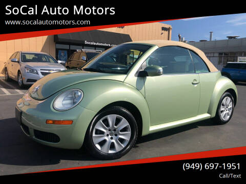2009 Volkswagen New Beetle Convertible for sale at SoCal Auto Motors in Costa Mesa CA
