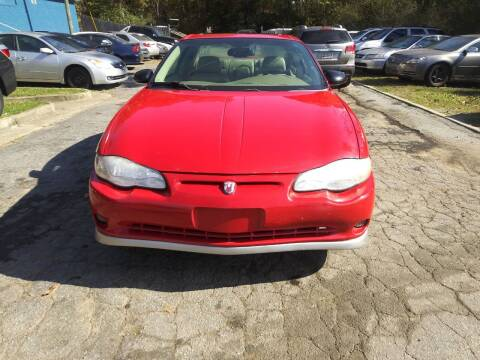 2005 Chevrolet Monte Carlo for sale at Moreland Motorsports in Conley GA