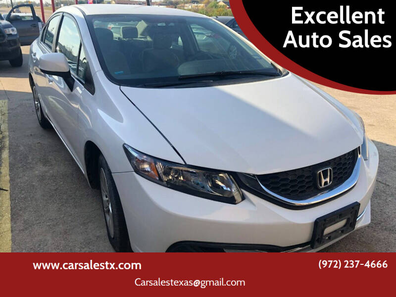 2013 Honda Civic for sale at Excellent Auto Sales in Grand Prairie TX