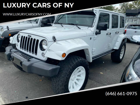 2015 Jeep Wrangler Unlimited for sale at LUXURY CARS OF NY in Queens NY