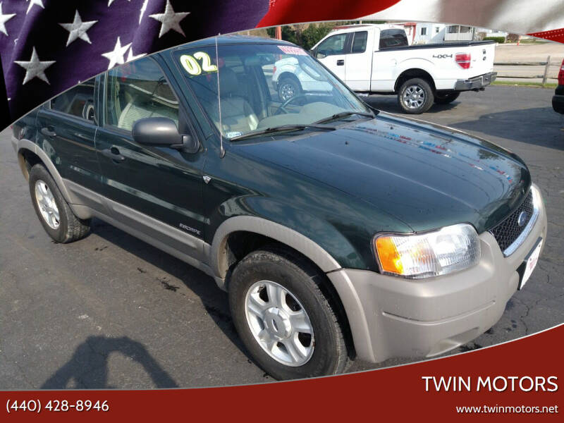 2002 Ford Escape for sale at TWIN MOTORS in Madison OH