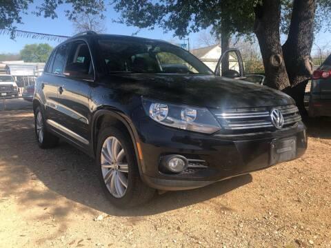 2012 Volkswagen Tiguan for sale at S & J Auto Group in San Antonio TX