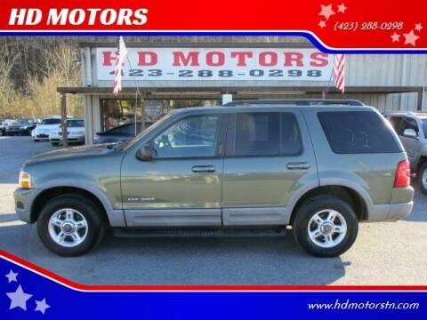 2002 Ford Explorer for sale at HD MOTORS in Kingsport TN