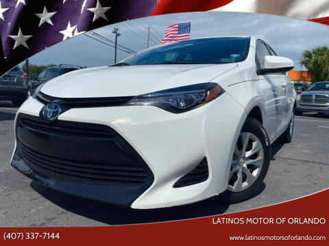 2017 Toyota Corolla for sale at LATINOS MOTOR OF ORLANDO in Orlando FL