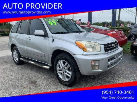 2003 Toyota RAV4 for sale at AUTO PROVIDER in Fort Lauderdale FL
