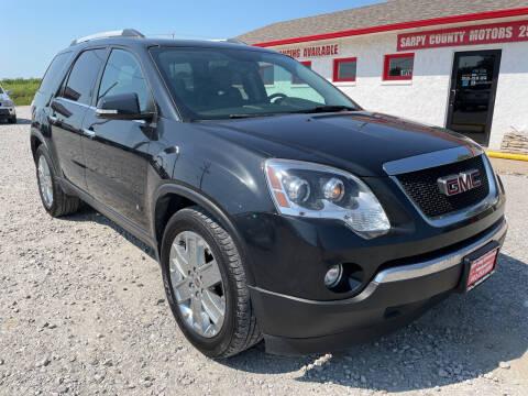 2010 GMC Acadia for sale at Sarpy County Motors in Springfield NE