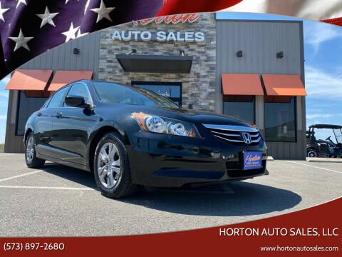 2012 Honda Accord for sale at HORTON AUTO SALES, LLC in Linn MO