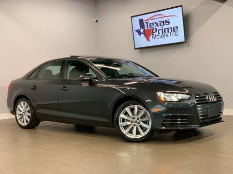 2017 Audi A4 for sale at Texas Prime Motors in Houston TX