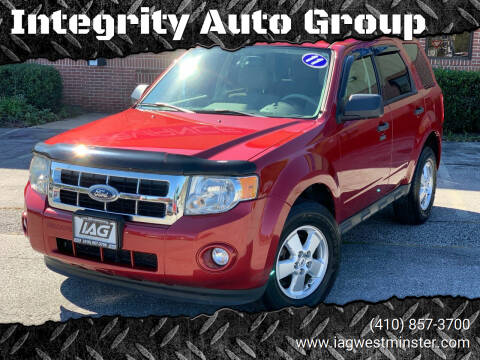 2011 Ford Escape for sale at Integrity Auto Group in Westminister MD