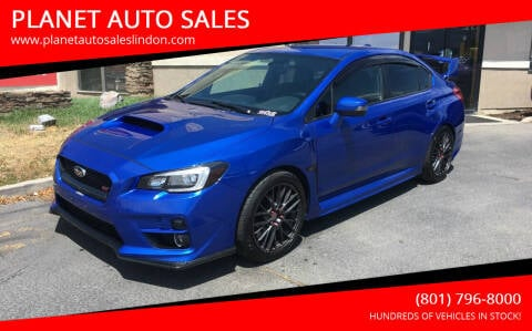 2015 Subaru WRX for sale at PLANET AUTO SALES in Lindon UT