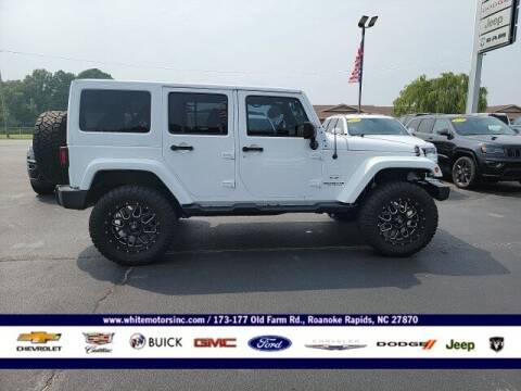 2016 Jeep Wrangler Unlimited for sale at WHITE MOTORS INC in Roanoke Rapids NC